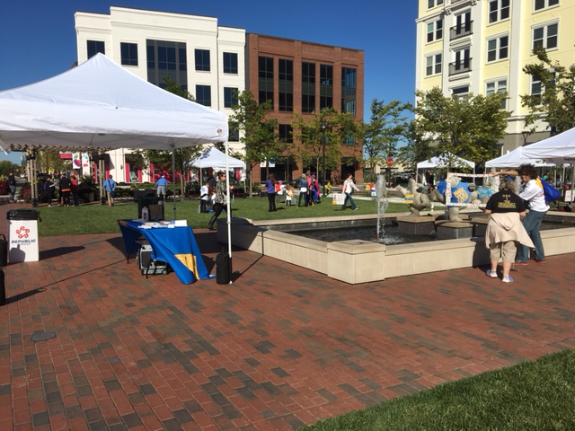 A view of the Liberty Center Square, the site of the 2016 Dragonfly Dash.