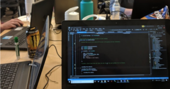 code on computer screen